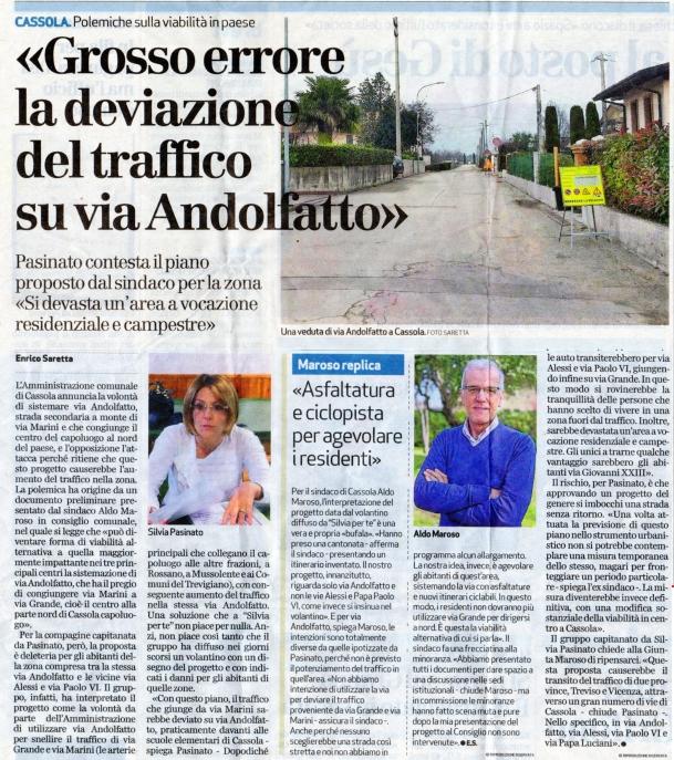 Cassola - Grosso Errore Via Andolfatto